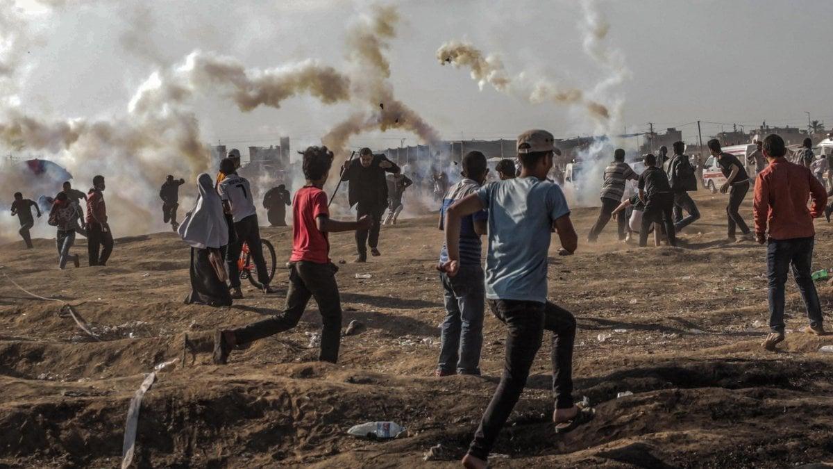 Gaza missili israeliani contro le postazioni di Hamas