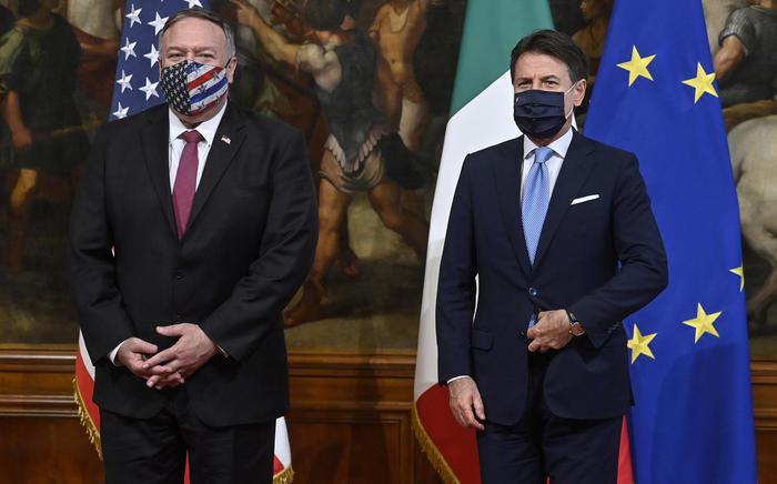 Segretario di Stato Usa Pompeo arriva domani mattina a Roma